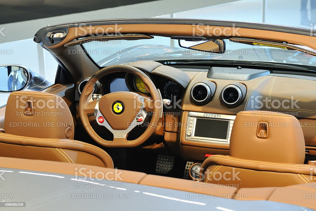 Ferrari California Italienischen Sportwagen Luxus Interior Stock ...