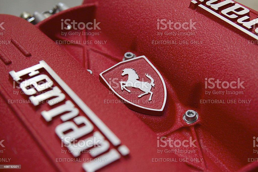 Ferrari blocco motore - Foto stock royalty-free di Automobile