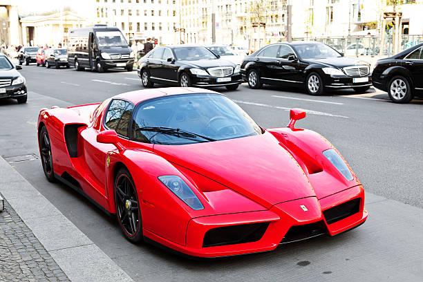 Ferrari Enzo in the streets of Berlin stock photo