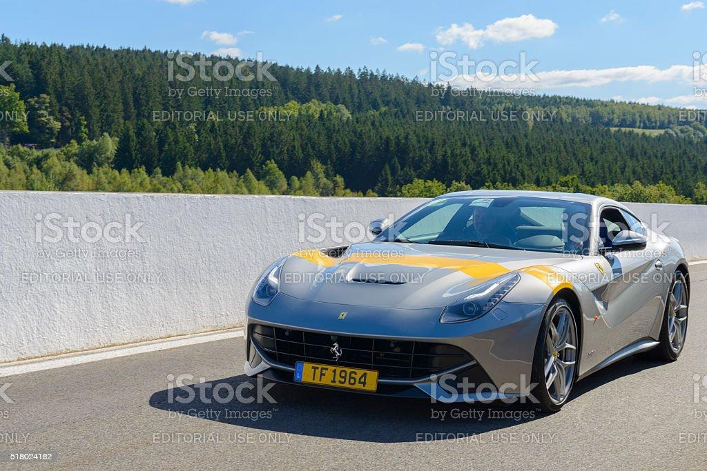 Ferrari F12berlinetta Tour de France 64 sports car stock photo