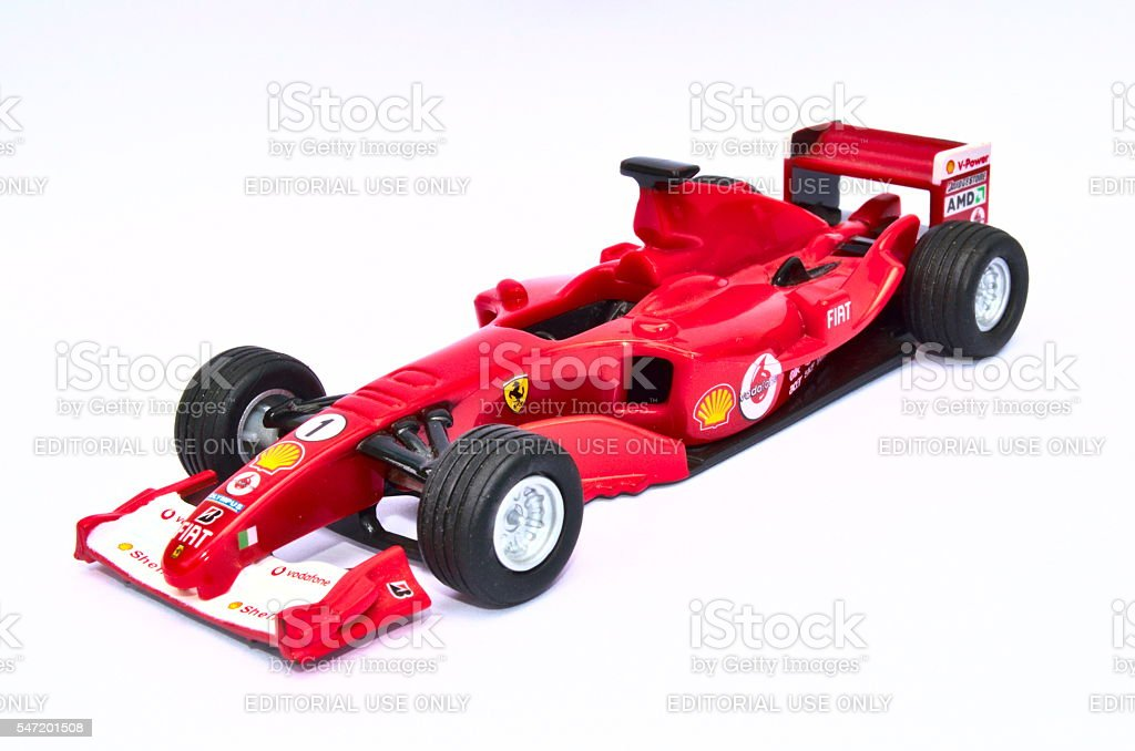 Ferrari F2005 Model Toy Car stock photo
