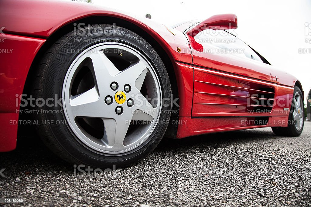Ferrari F355 Berlinetta sports car parked in Velletri Italy