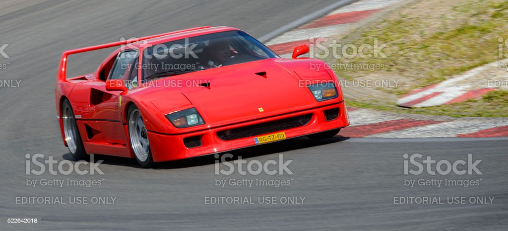 2018 ferrari f40. beautiful ferrari ferrari f40 classic 1980s italian supercar driving on track stock photo  to 2018 ferrari f40 a