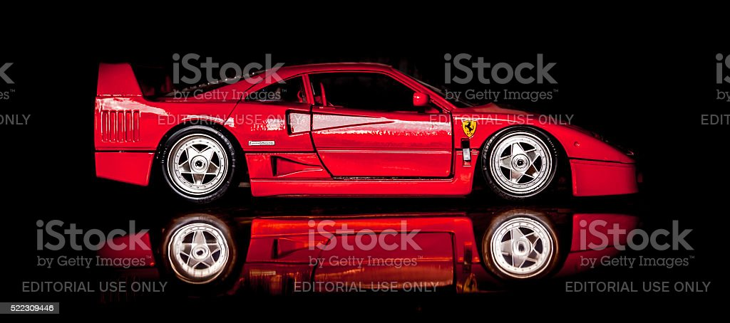 Ferrari F40 stock photo