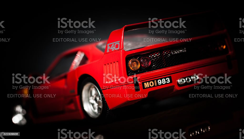 Ferrari F40 rear view stock photo