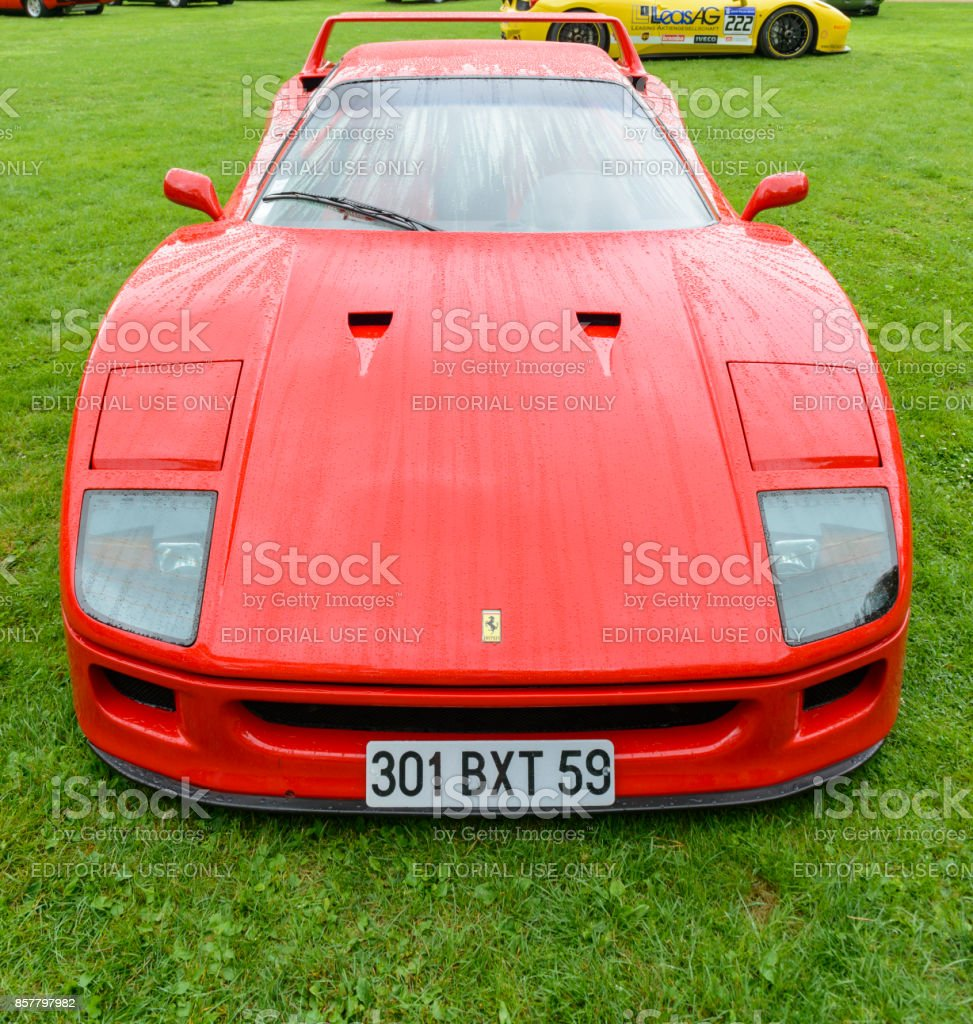 Ferrari Car Show: Ferrari F40 Supercar Of The 1980s At A Classic Car Show
