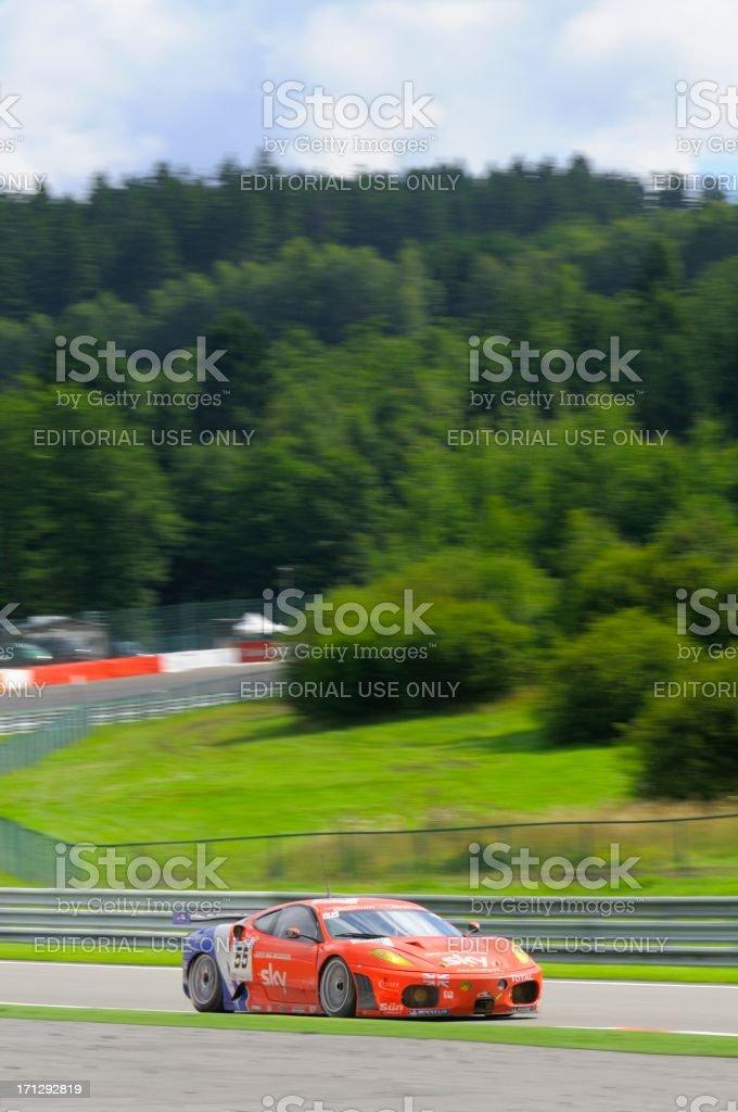 Ferrari F430 GT race car at the race track stock photo