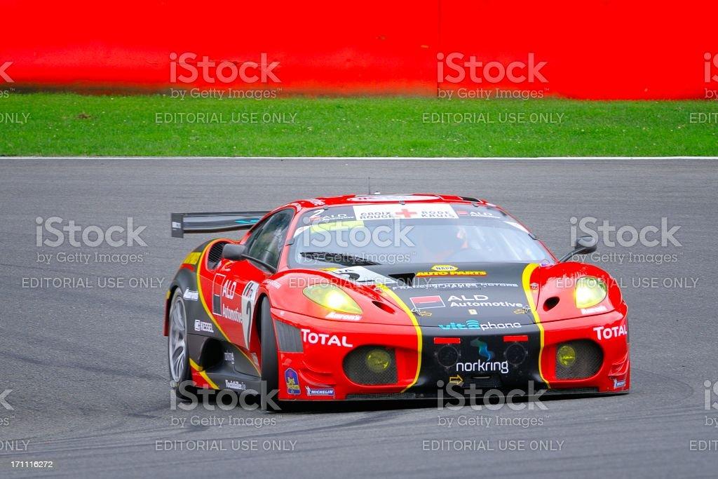 Ferrari F430 GT race car stock photo