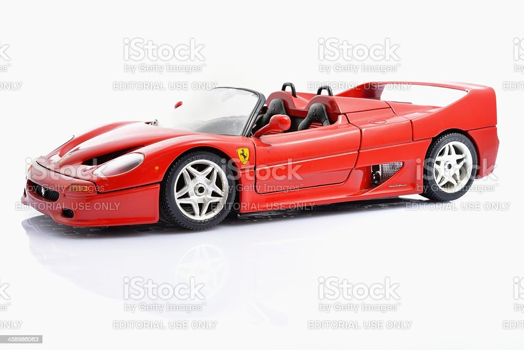 Ferrari F50 model car stock photo