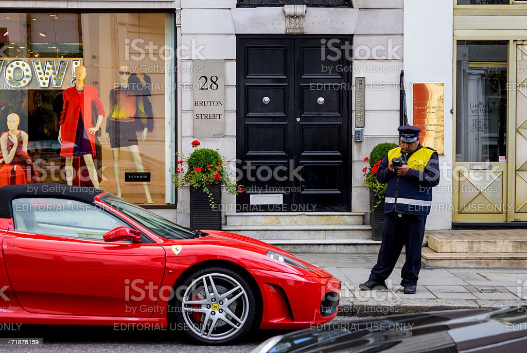 Ferrari fine stock photo