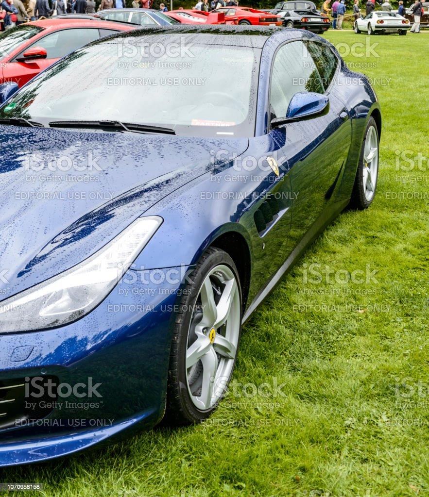 Ferrari GTC4 Lusso Grand Tourer Italian sports car stock photo