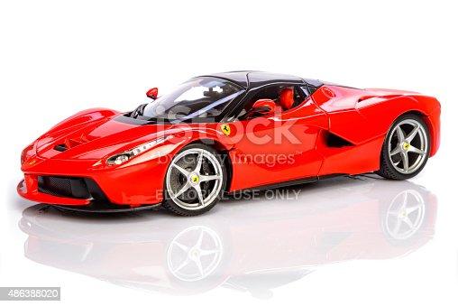 ferrari laferrari hybrid sports car model car stock photo. Black Bedroom Furniture Sets. Home Design Ideas