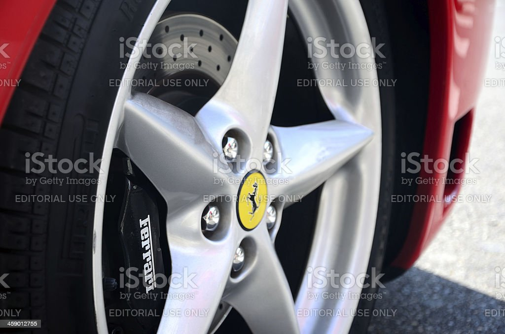 Ferrari Logo stock photo