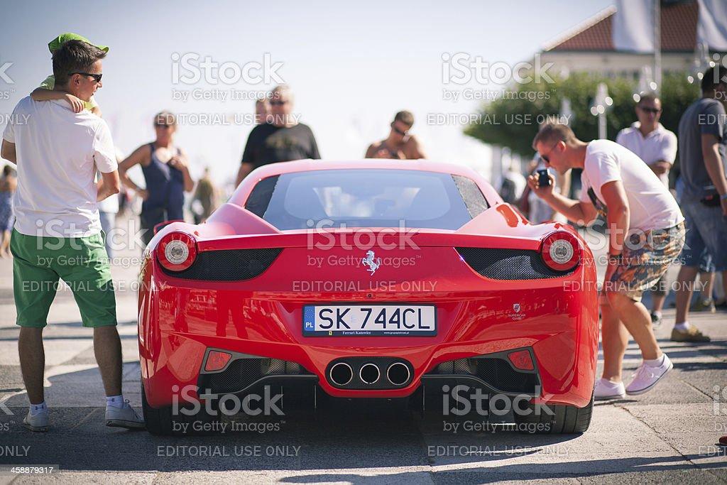 Ferrari presentation stock photo