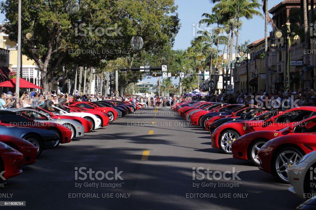 Ferrari Show In Naples Fl February Stock Photo More - Car show naples fl today