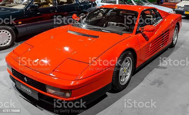 Ferrari Testarossa 1980 Er Supercar Stockfoto Und Mehr Bilder Von 1980 1989 Istock