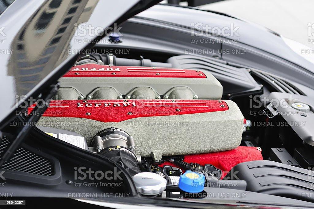 Ferrari V12 engine stock photo