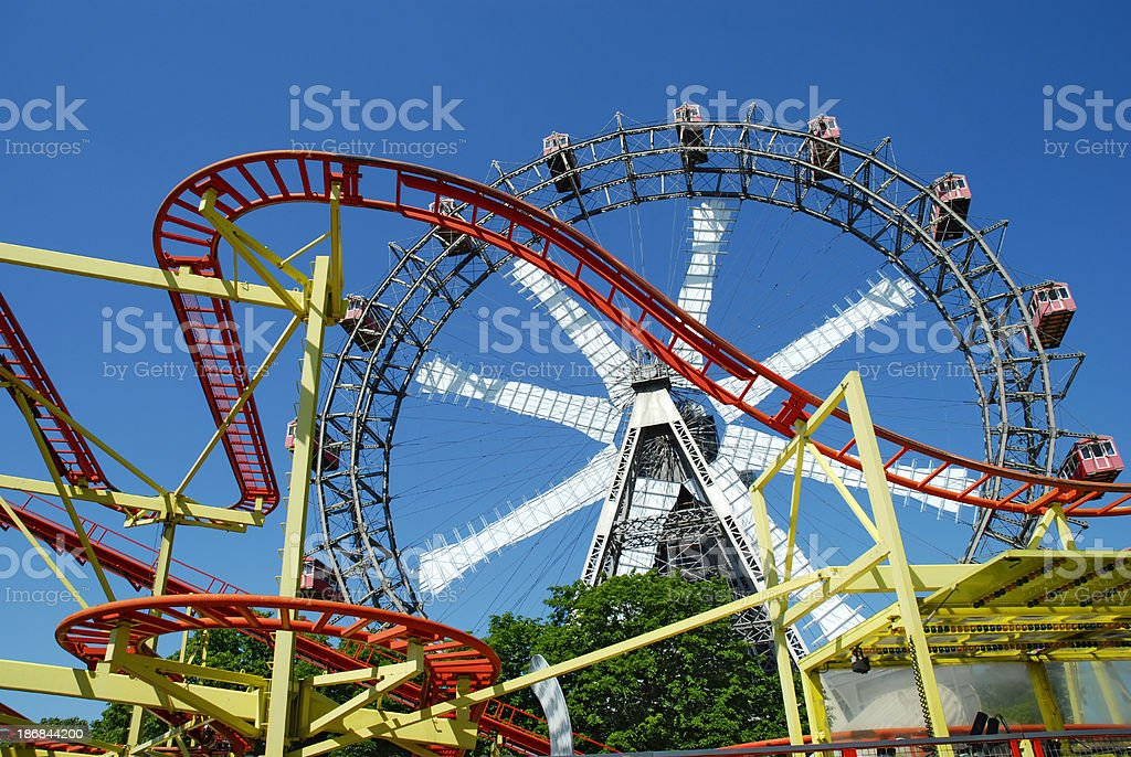 ferrie wheel in prater stock photo