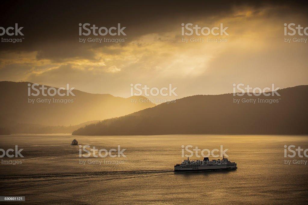 Ferries stock photo