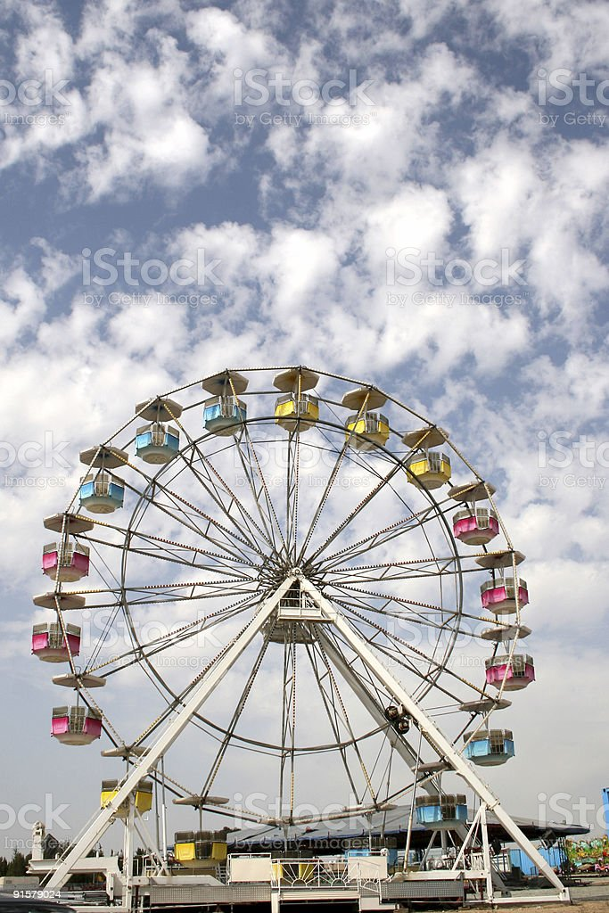 Ferris wheel a cloudy day royalty-free stock photo
