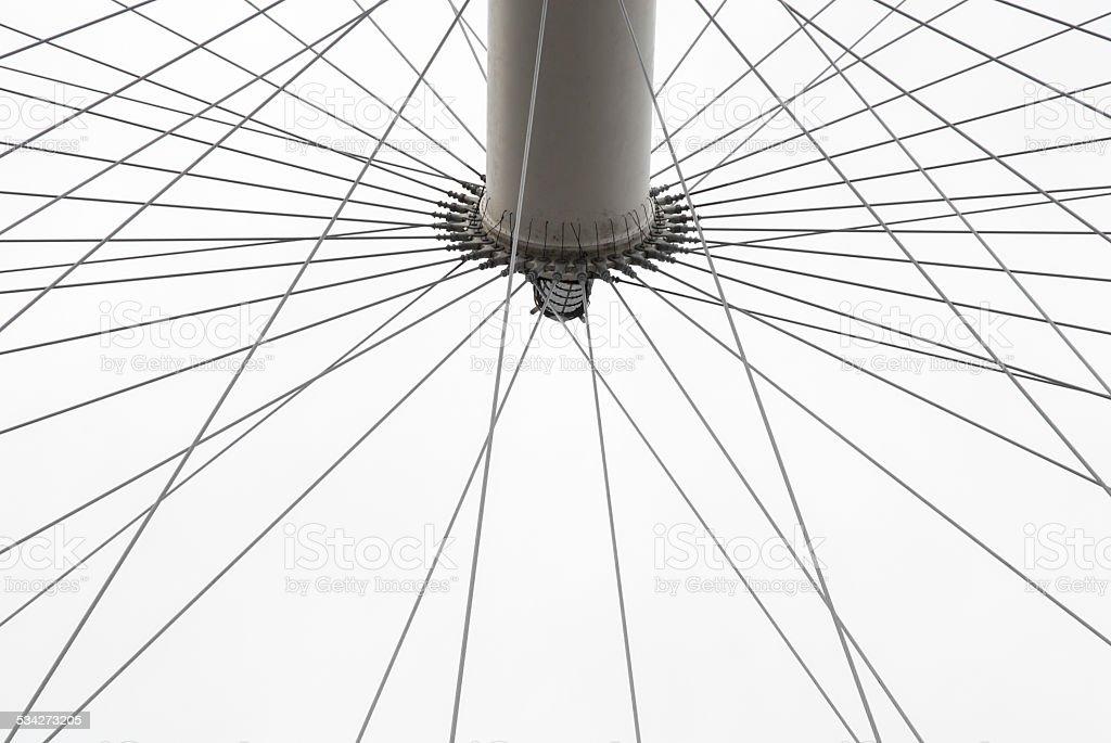 Ferris Wheel, abstract detail stock photo
