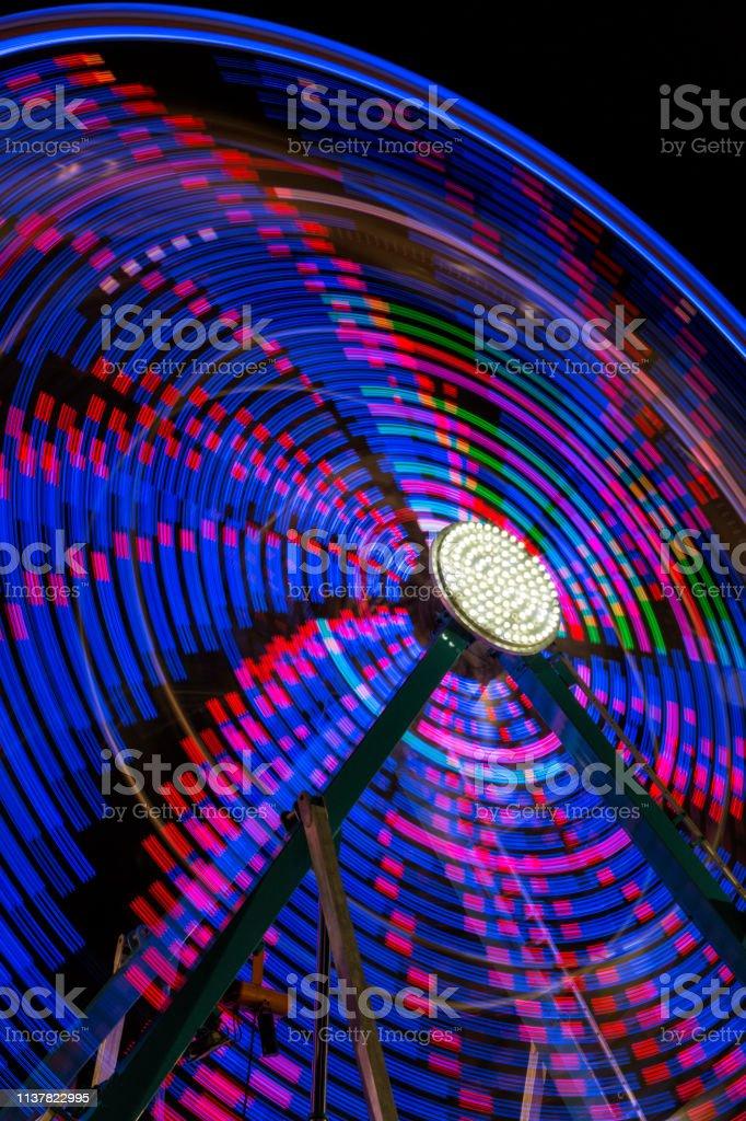 Ferris Wheel Abstract stock photo