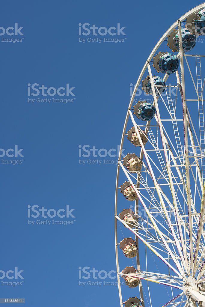 Ferris wheel against blue sky royalty-free stock photo