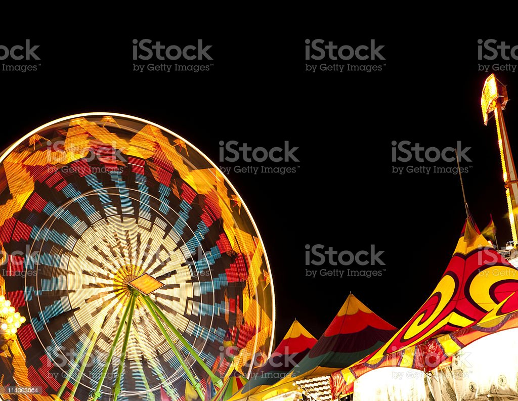 Ferris Wheel and Carnival Tents stock photo