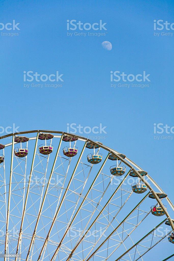 Ferris Wheel and moon royalty-free stock photo