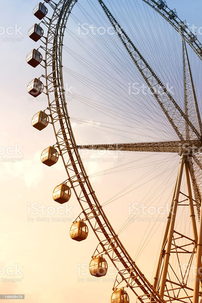 Ferris Wheel and Sunset Glow royalty-free stock photo