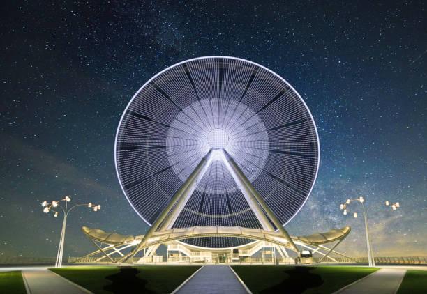 Ferris Wheel at Baku city stock photo