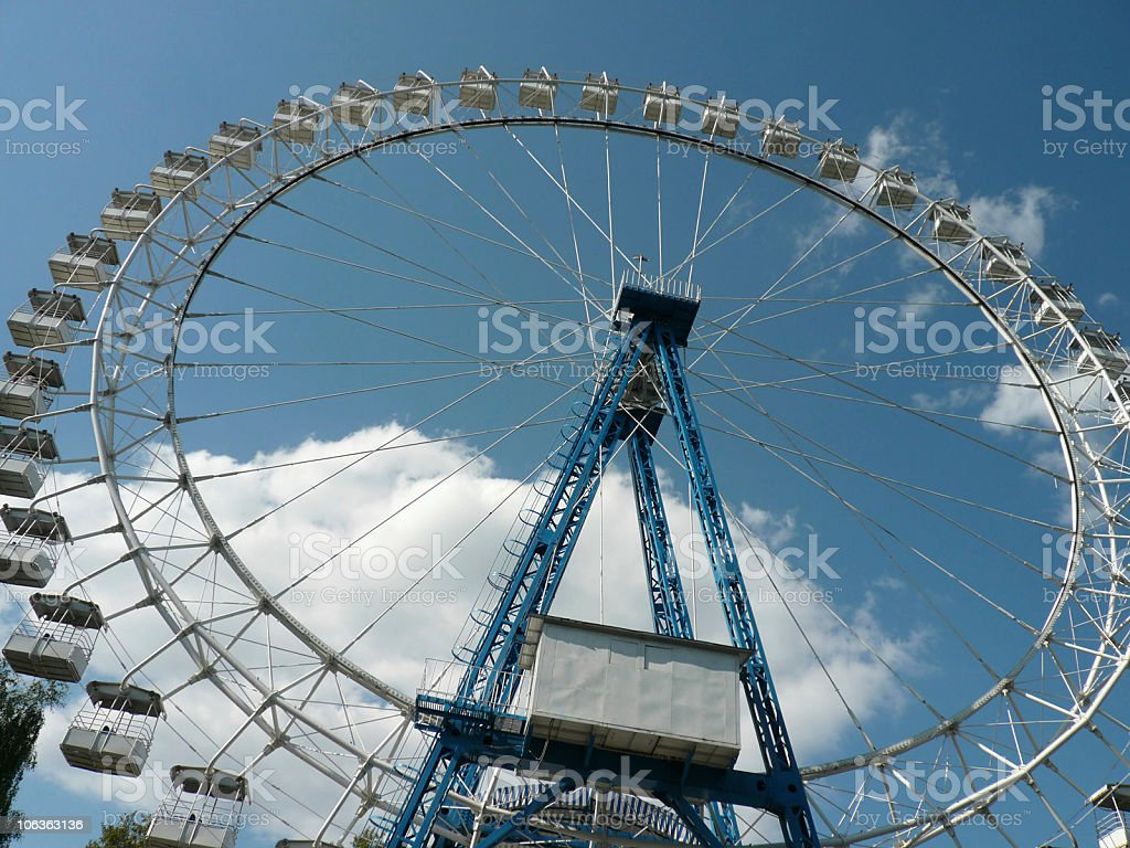 Ferris wheel at day royalty-free stock photo