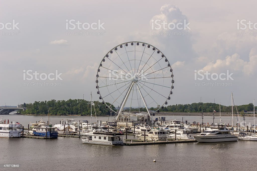Ferris Wheel At National Harbor, Maryland stock photo