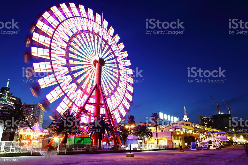 Ferris Wheel at night royalty-free stock photo