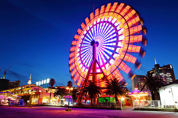 Ferris Wheel at night Ferris Wheel in city at night ferris wheel stock pictures, royalty-free photos & images