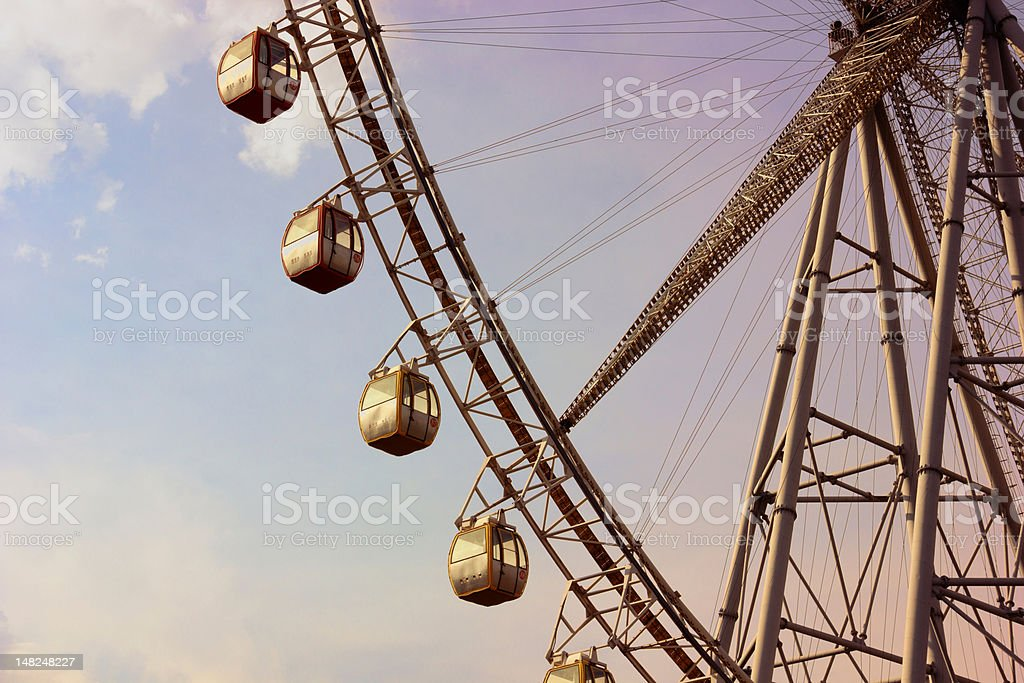 Ferris Wheel at Sunset royalty-free stock photo