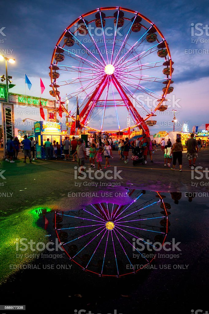 Ferris wheel at the Ohio State Fair stock photo