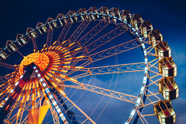 Ferris Wheel at the Oktoberfest in Munich, Germany stock photo