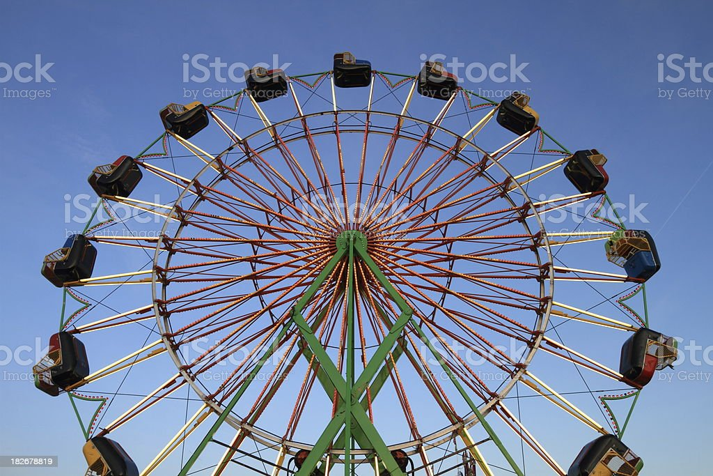 Ferris Wheel at Twilight Horizontal royalty-free stock photo