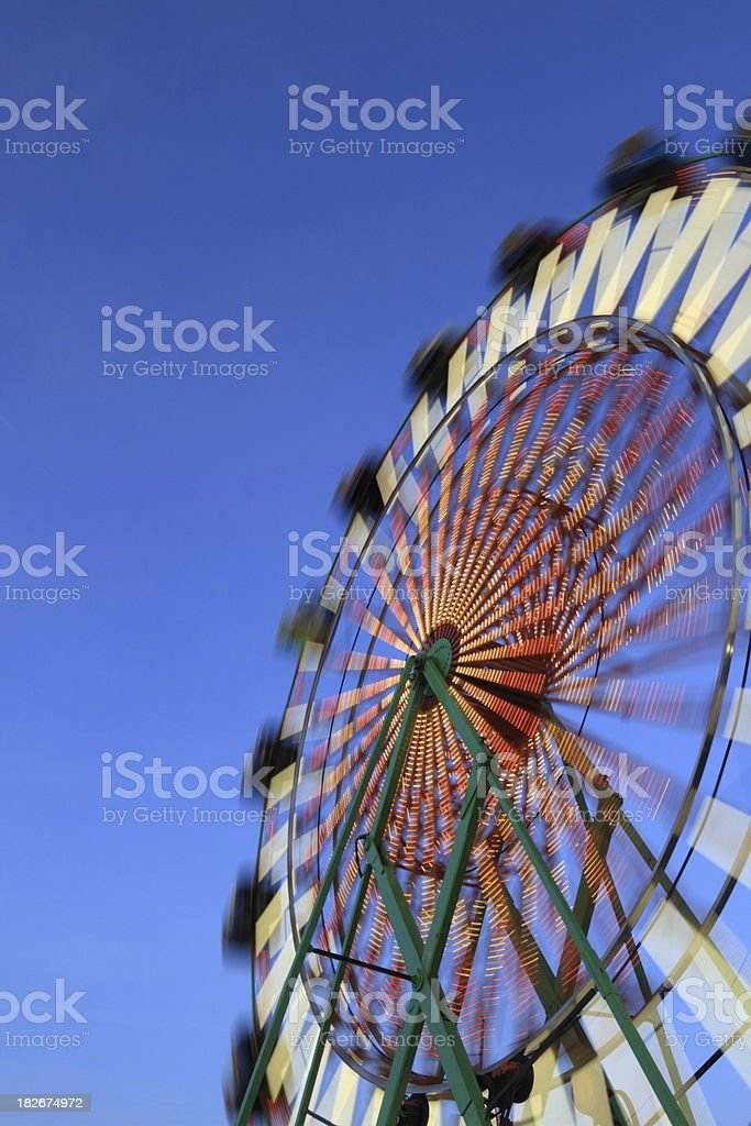 Ferris Wheel at Twilight Vertical royalty-free stock photo