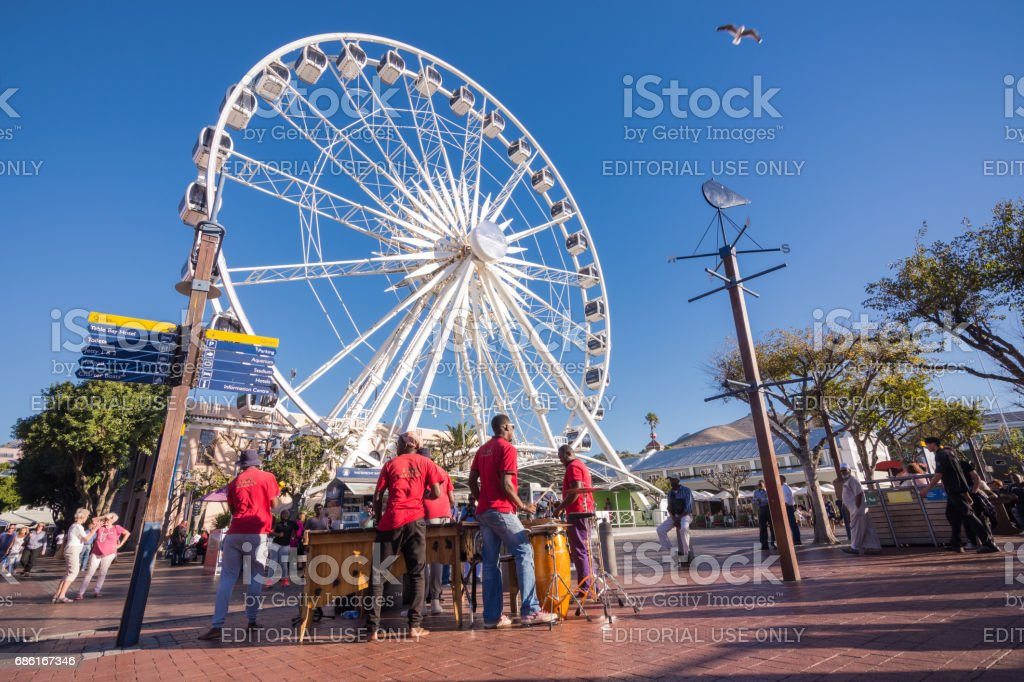 Ferris Wheel at Victoria and Alfred Waterfront, Cape Town stock photo