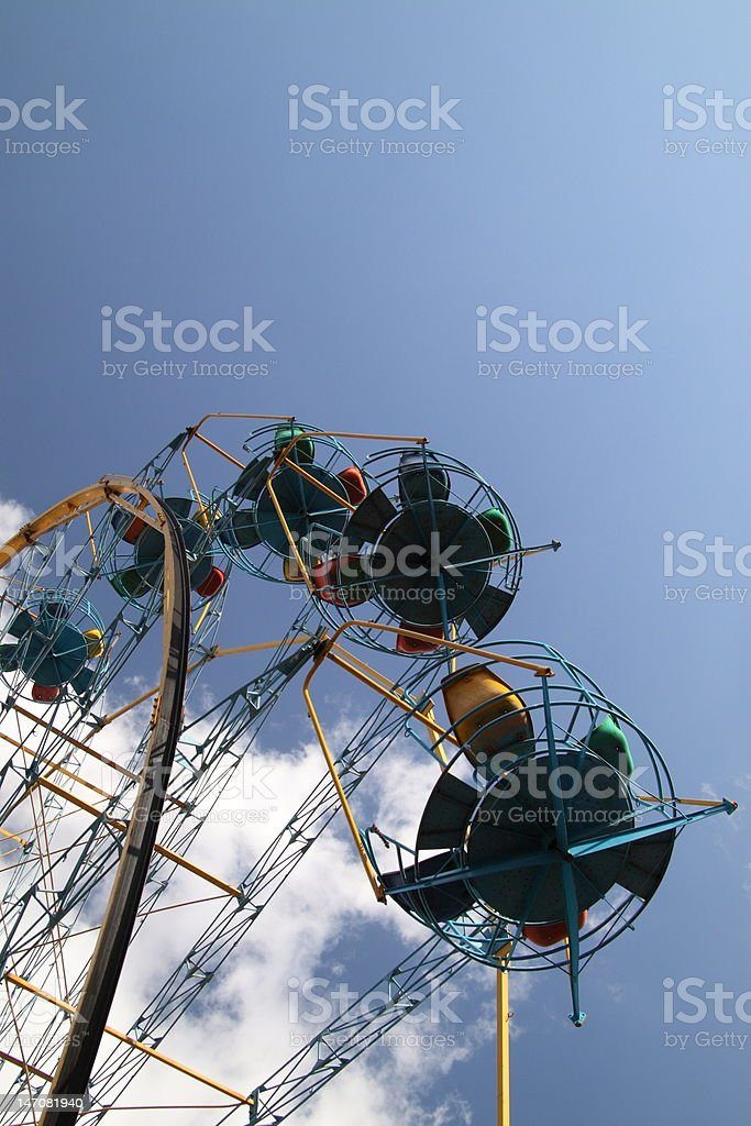 Ferris wheel attraction. City amusement park royalty-free stock photo