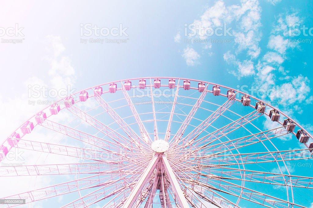 Ferris wheel background stock photo
