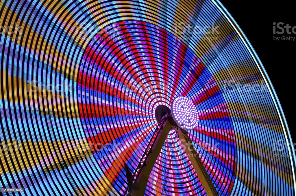 ferris wheel colourfull stock photo