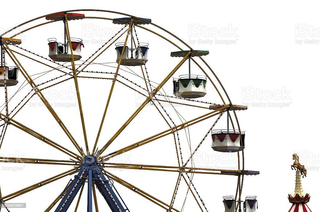 ferris wheel in amusement park royalty-free stock photo