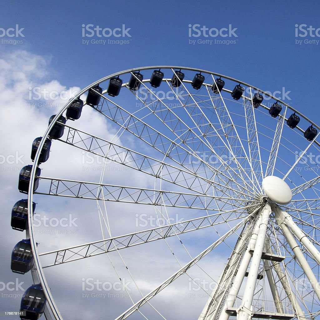 Ferris wheel in Budapest stock photo
