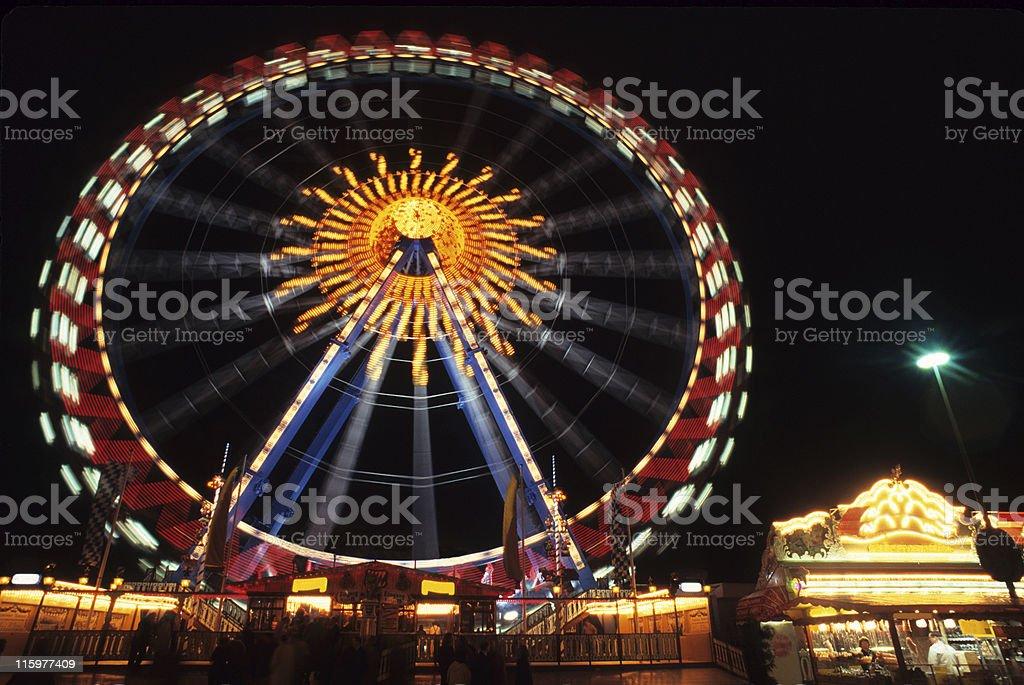 Ferris Wheel in Oktoberfest royalty-free stock photo