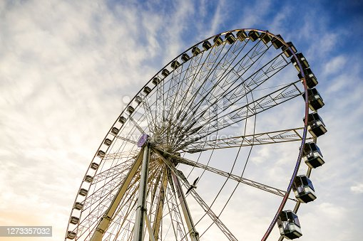 istock Ferris wheel in place de la Concorde, Photo image a Beautiful panoramic view of Paris Metropolitan City 1273357032