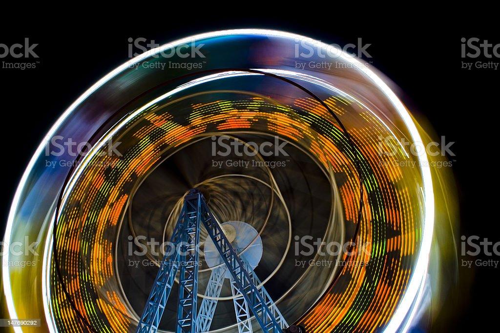 Ferris Wheel In The Night stock photo