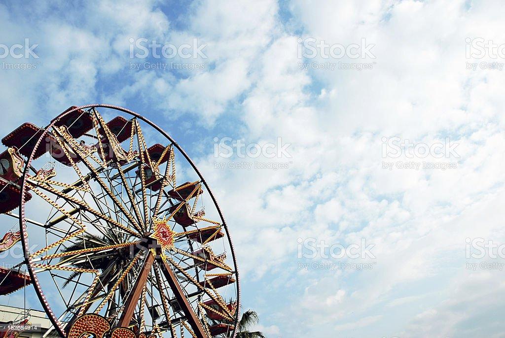 Ferris Wheel in the sky royalty-free stock photo